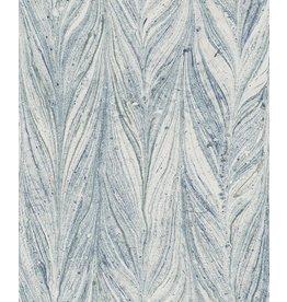 York Ebru Marble Wallpaper-Bright Blue