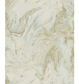York Oil & Marble Wallpaper-Green Whisper/Lt Gold