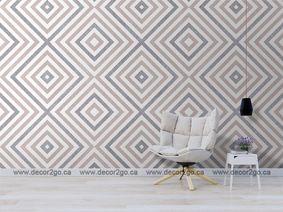 Geometrical pattern in rose and pink colors