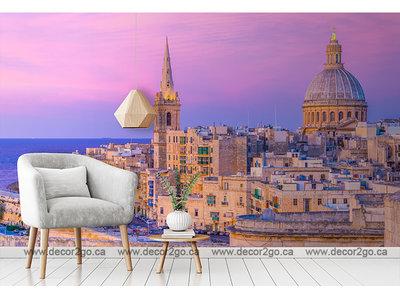 Sunset view Valletta, Malta