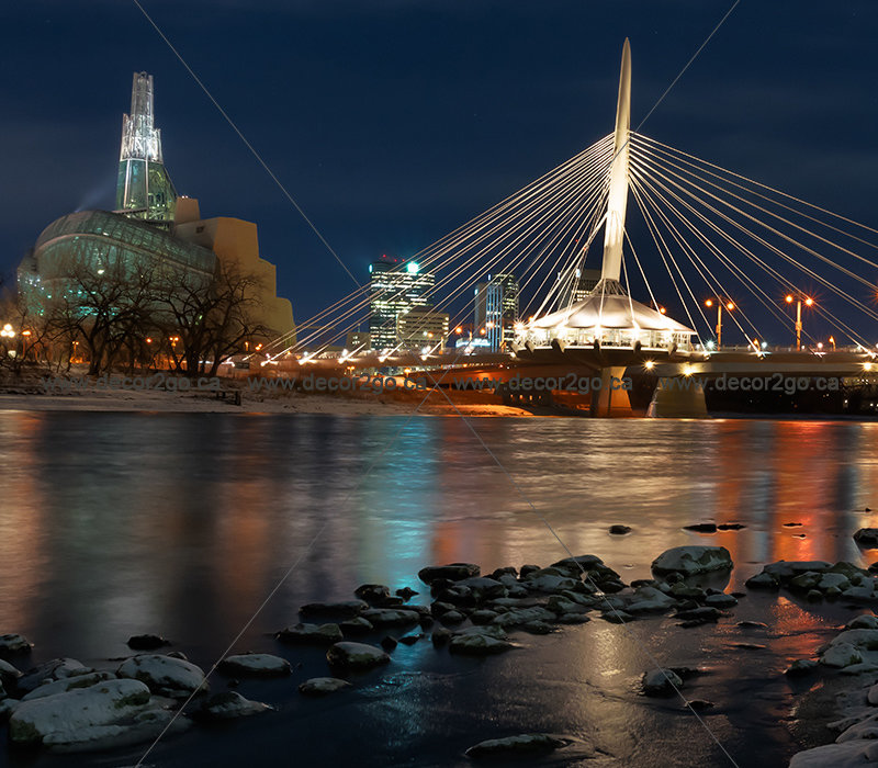 Provencher Bridge, Winnipeg City.