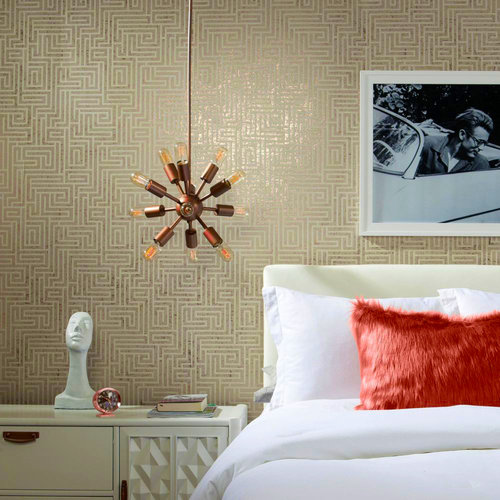 A-Maze Wallpaper - Glint/Cream