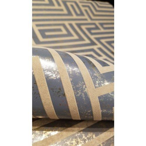 A-Maze Wallpaper - Dark Blue