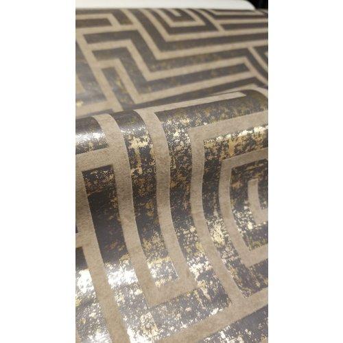 A-Maze Wallpaper - Charcoal