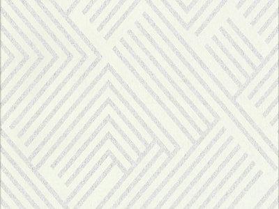 Perplexing Wallpaper - White/Silver