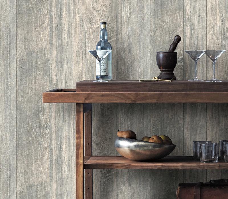 Grey Rustic Wood Wallpaper