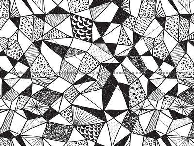 Geometric Shapes Black and White