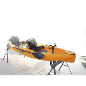 "Hobie Hobie Mirage Outfitter 2016 Papaya 12'8"" with Wiring Kit USED n6983"