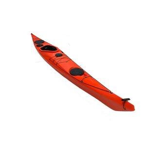 "P&H Sea Kayaks P&H Delphin 155 2016 Lava 15'9"" USED fcsdg"