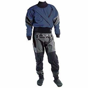Kokatat Kokatat Gore-Tex Meridian Drysuit with Relief Zipper & Socks SALE Denim/Gray XXL