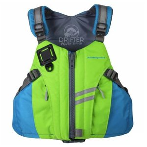 Stohlquist Drifter PFD Youth 50-90 lbs Bright Green