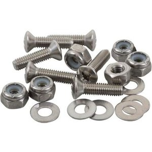 """Sealect Designs #10-32 x 1"""" Pan Head w/ Nyloc Nut and Washer (6 Pack)"""