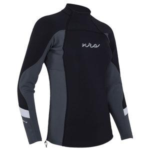 NRS NRS Women's HydroSkin 1.5 Long Sleeve Shirt Black MD SALE
