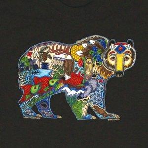 Liberty Graphics Liberty Graphics Earth Art Grizzly T-Shirt
