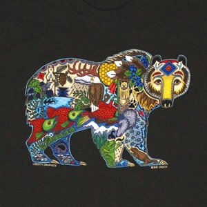 Liberty Graphics Liberty Graphics Earth Art Grizzly Youth T-Shirt