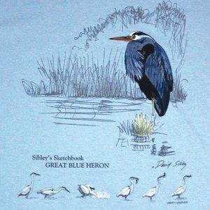 Liberty Graphics Liberty Graphics Great Blue Heron T-Shirt