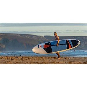 Tahe Outdoors Tahe Beach Cross Tough-Tec SUP 11' Pack Wht/Blue/Grey