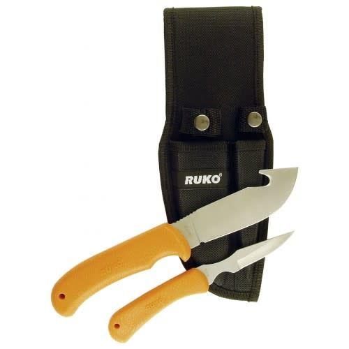 Ruko 2 Knife Skinning set - blaze orange