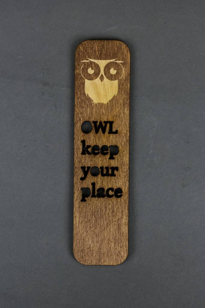 Wood Bookmark, Owl Keep Your Place