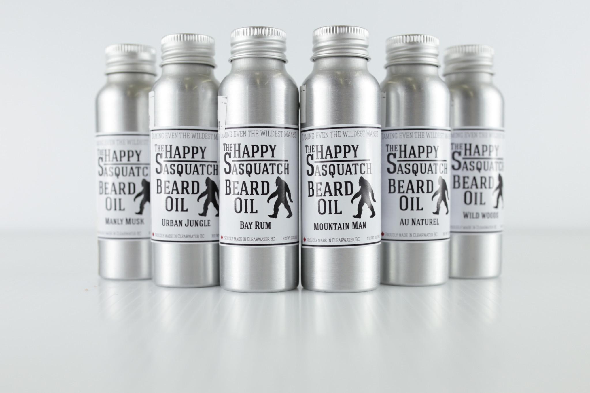 Happy Sasquatch Beard Oil Bay Rum