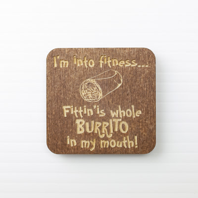 Wood Magnet, I'm into Fitness