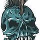 Skull with Mohawk
