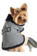 Doggie Design Black & White Classic Houndstooth Coat