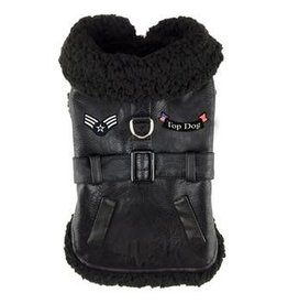 Doggie Design Black Top Dog Flight Coat