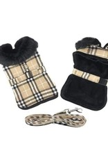 Doggie Design Brown Plaid Classic Coat