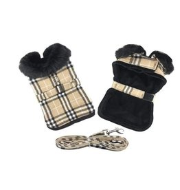 Doggie Design Brown Plaid Classic Coat