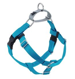 "2 Hounds Design 1"" Freedom Harness and Leash - Turquoise"