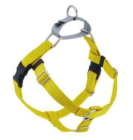 "2 Hounds Design 1"" Freedom Harness and Leash - Yellow"