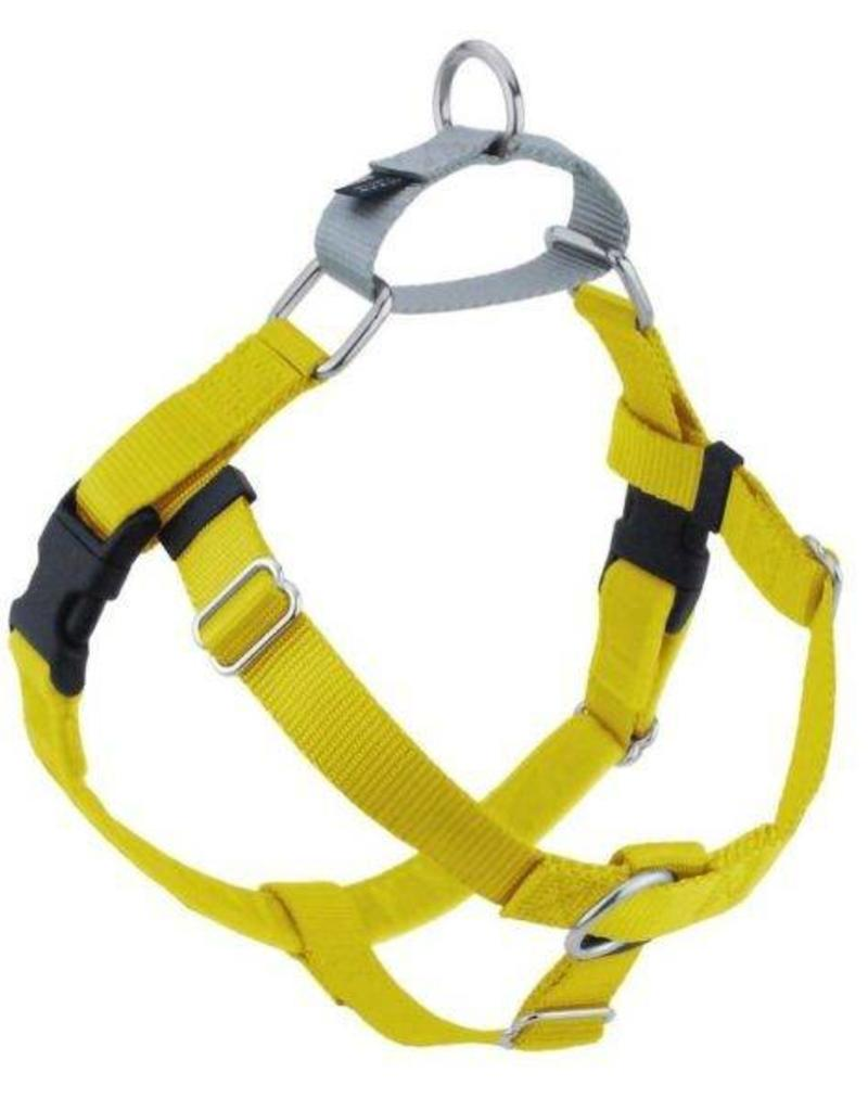 """2 Hounds Design 1"""" Freedom Harness and Leash - Yellow"""