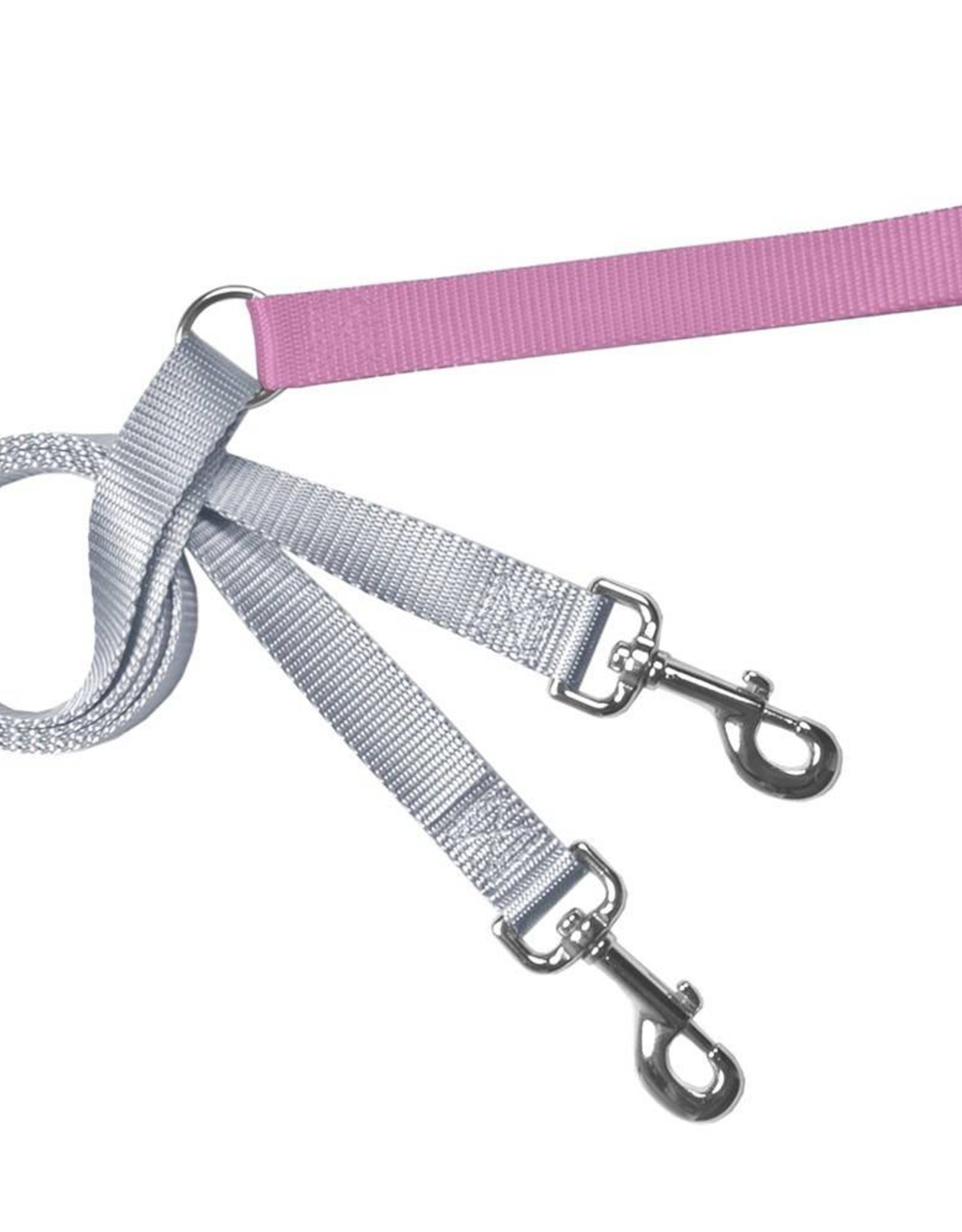"""2 Hounds Design 1"""" Freedom Harness and Leash - Rose"""