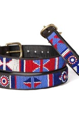 The Kenyan Collection Kenyan Collection Collar - RedWhiteBlue