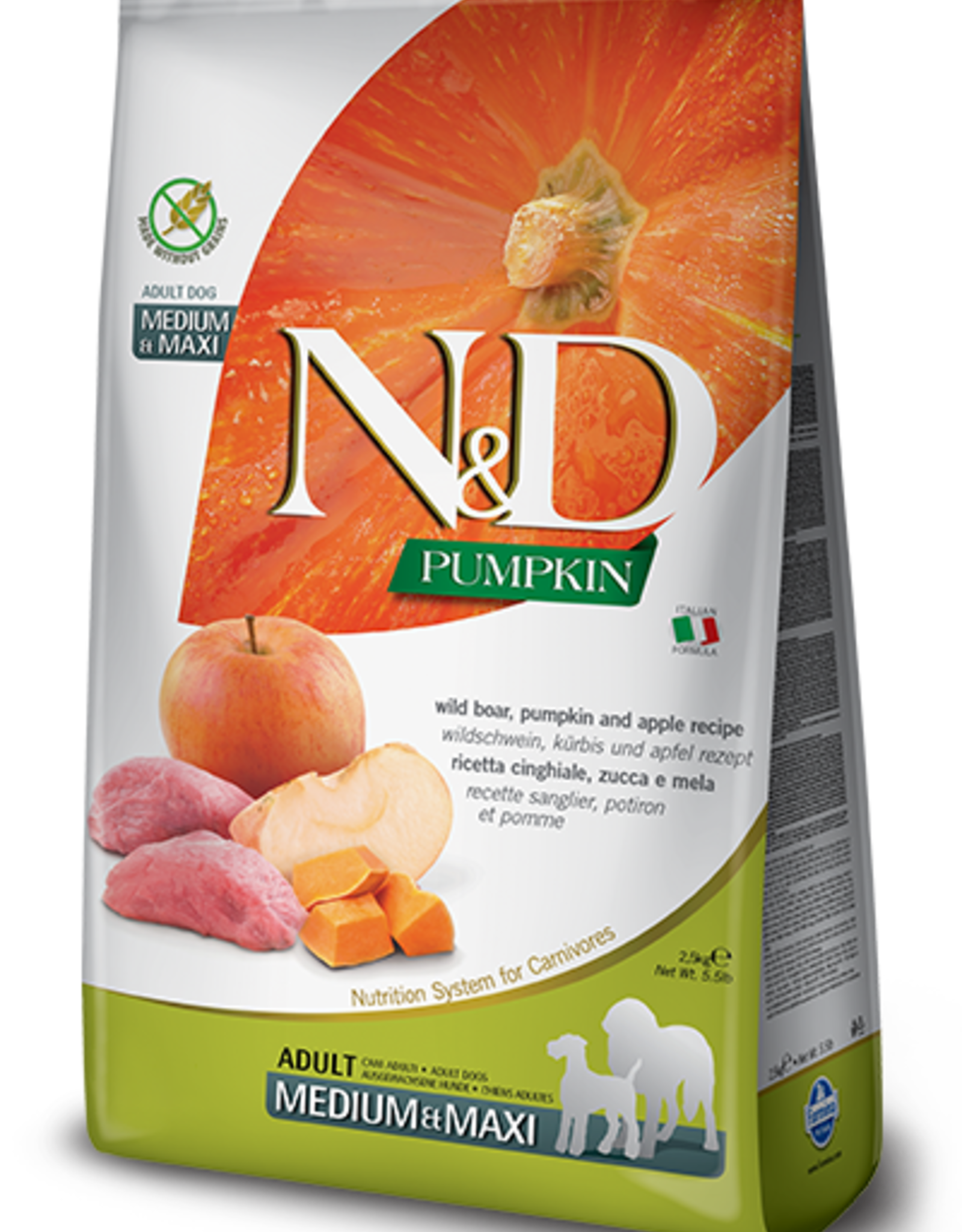 Farmina N&D Pumpkin GF Dog Food Boar & Apple 26.4 lbs