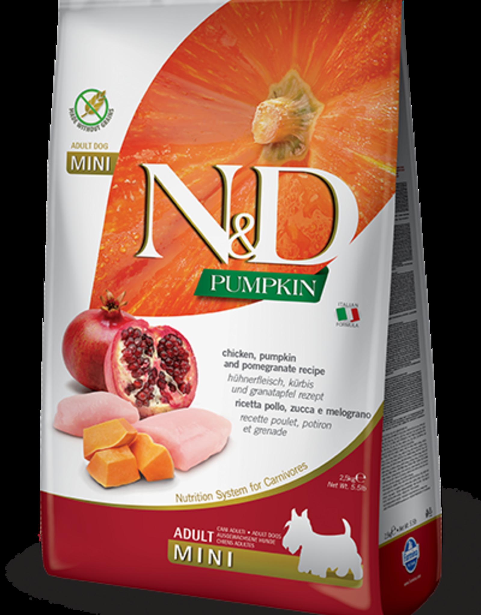 Farmina N&D Pumpkin Mini GF Adult Dog Food  Chicken & Pomegranate 15.4 lbs