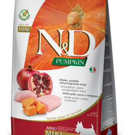 Farmina N&D Pumpkin Mini GF Adult Dog Food  Chicken & Pomegranate 15.4 lbs