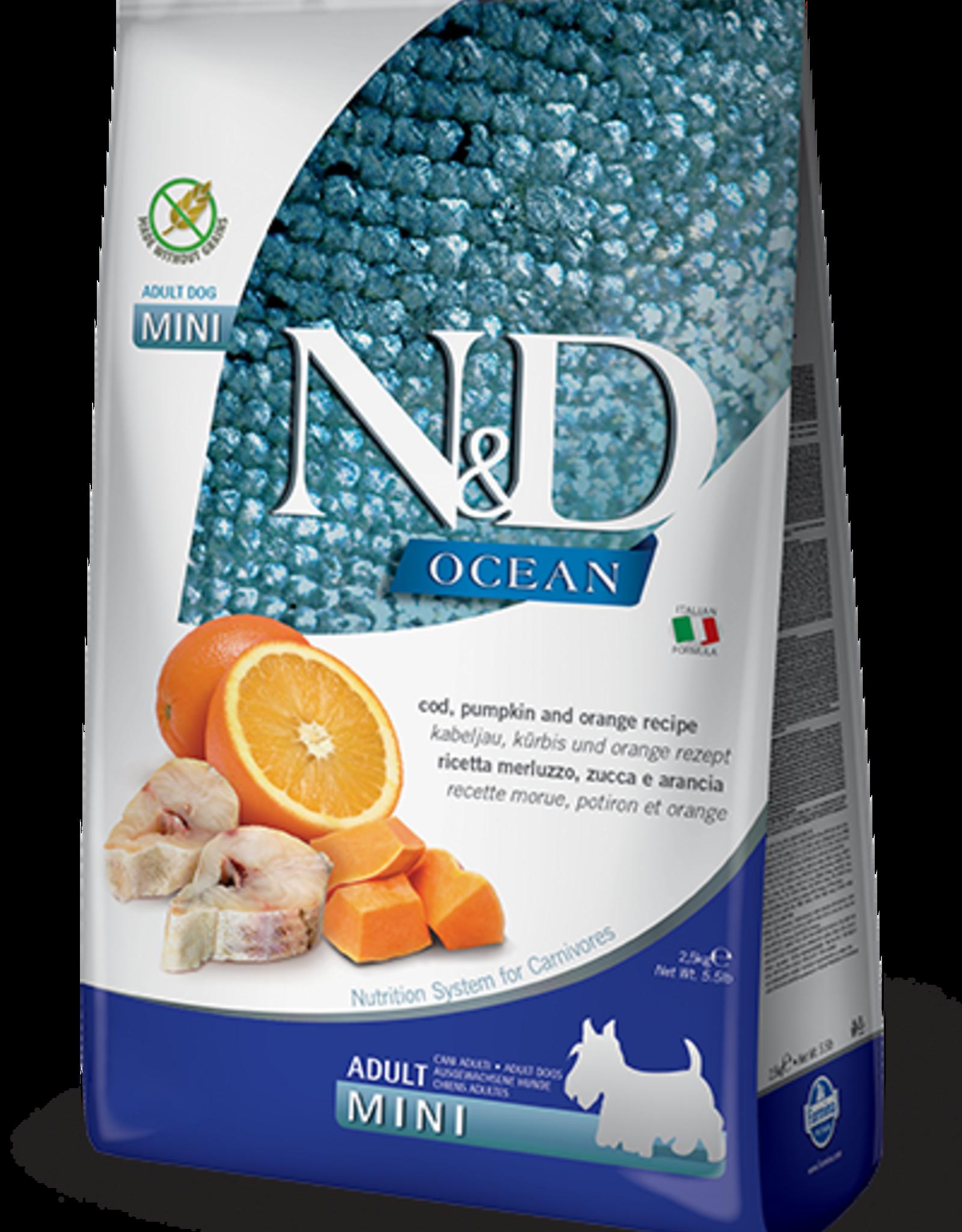 Farmina N&D Pumpkin Mini GF Adult Dog Food  Cod & Orange 15.4 lbs