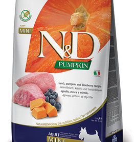 Farmina N&D Pumpkin Mini GF Adult Dog Food  Lamb & Blueberry 15.4 lbs