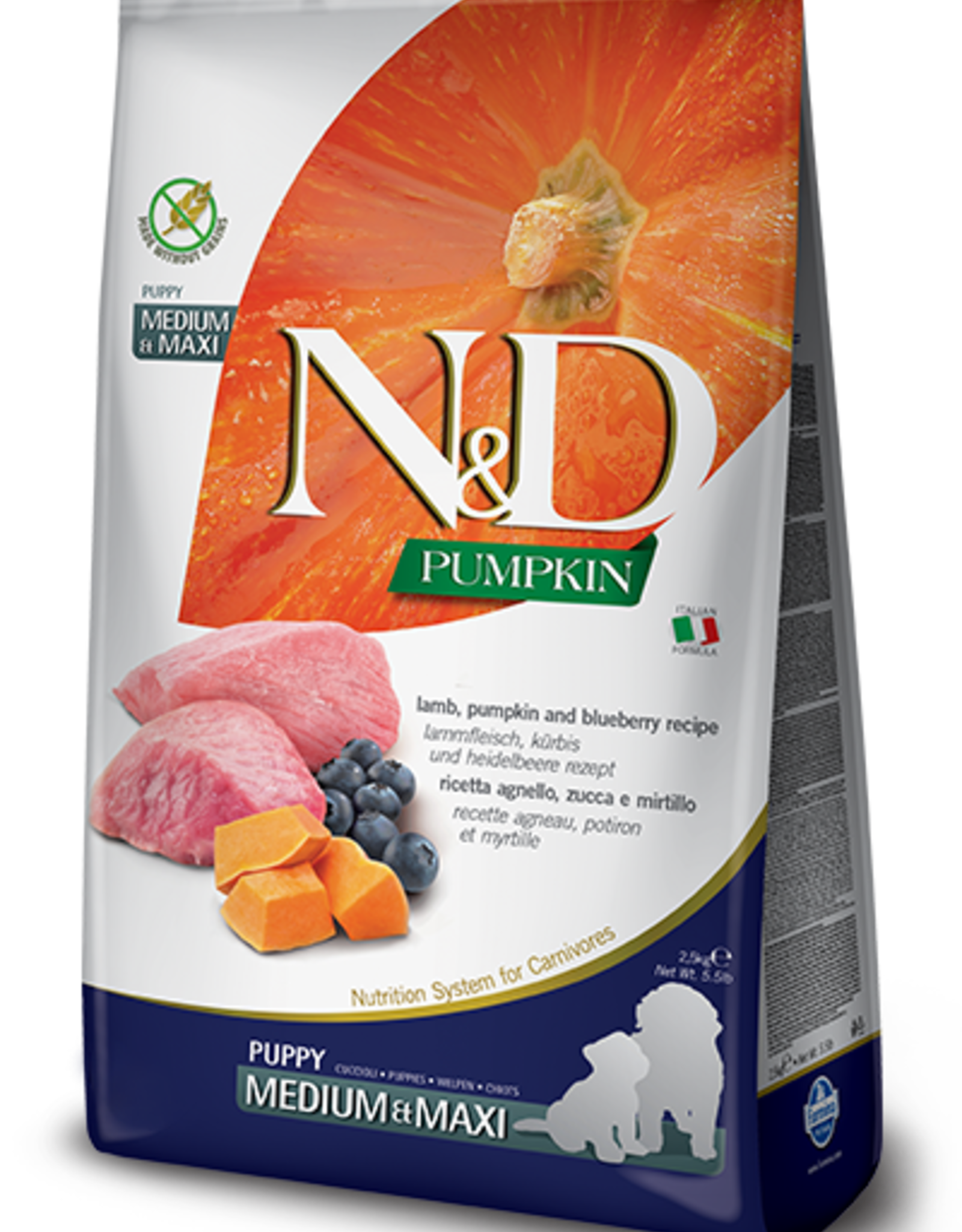 Farmina N&D Pumpkin GF Dog Food Puppy Lamb & Blueberry