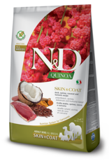 Farmina N&D Quinoa GF Skin & Coat Adult Dog Food Duck 15.4 lbs