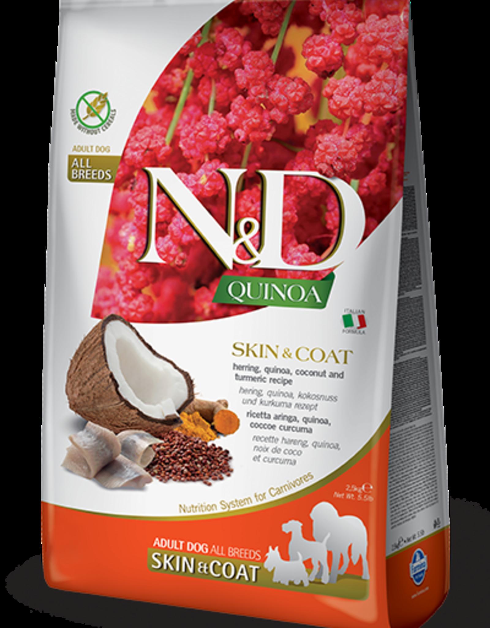 Farmina N&D Quinoa GF Skin & Coat Adult Dog Food Herring 15.4 lbs