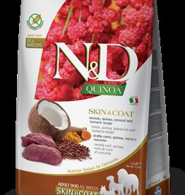 Farmina N&D Quinoa GF Skin & Coat Adult Dog Food Venison 15.4 lbs