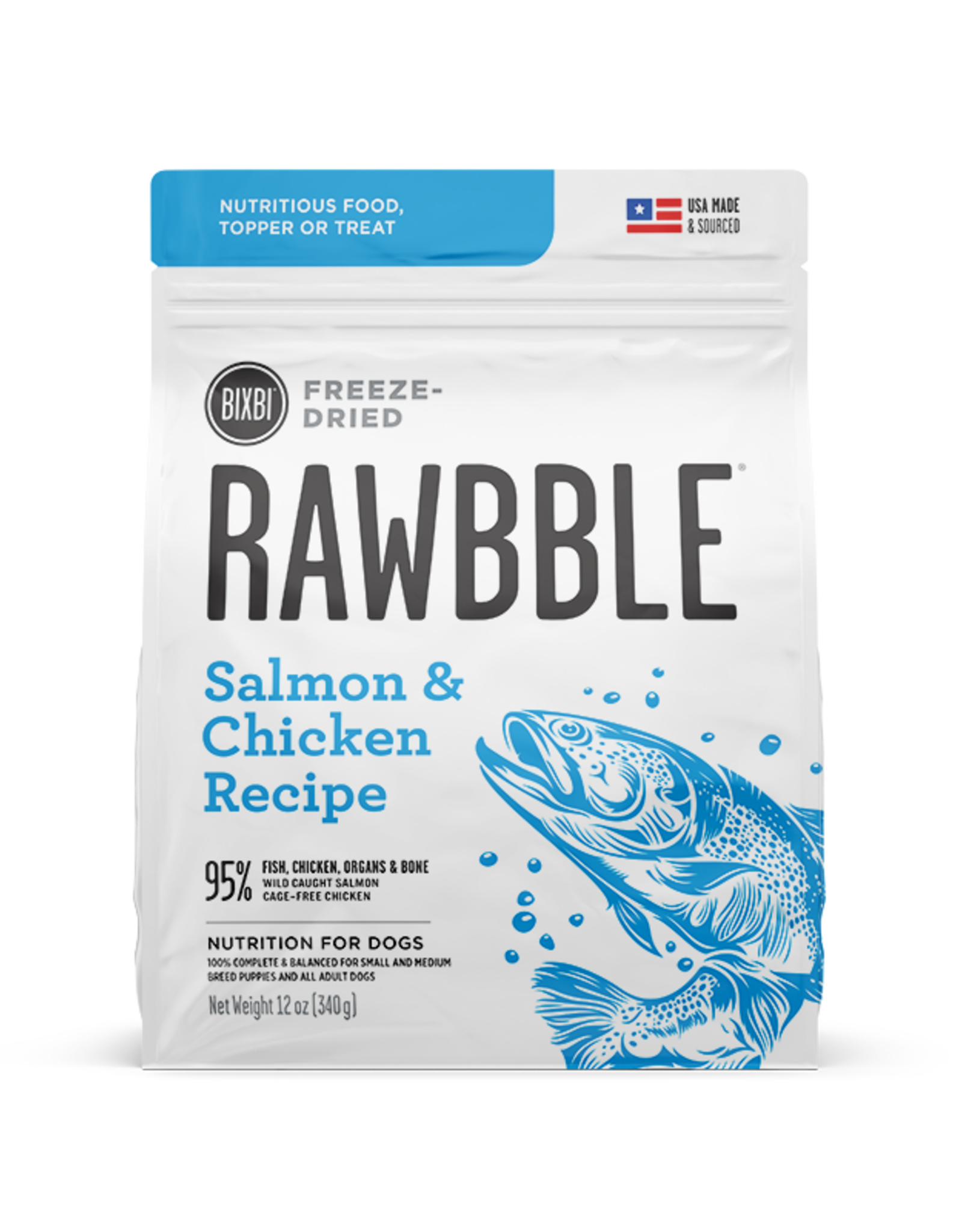 Bixbi Bixbi Rawbble Salmon & Chicken