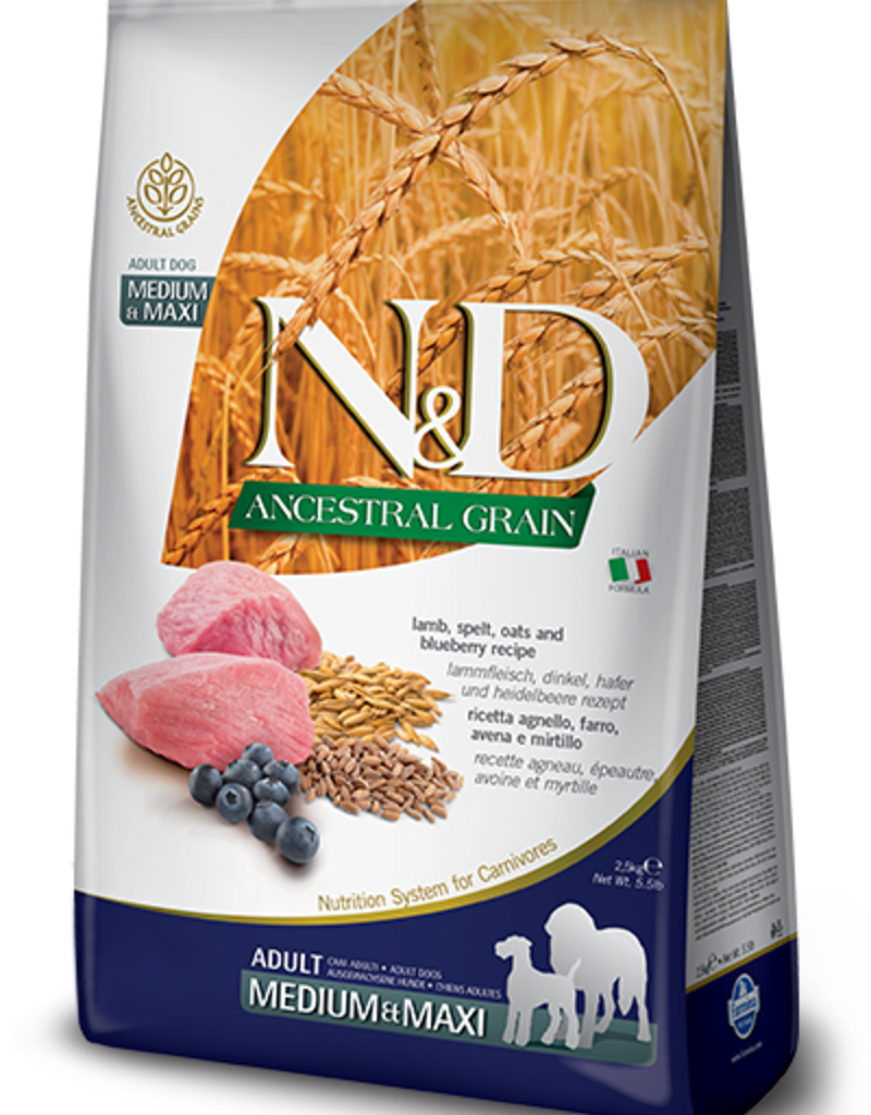 Farmina N&D Ancestral Grain Lamb & Blueberry Dog Food