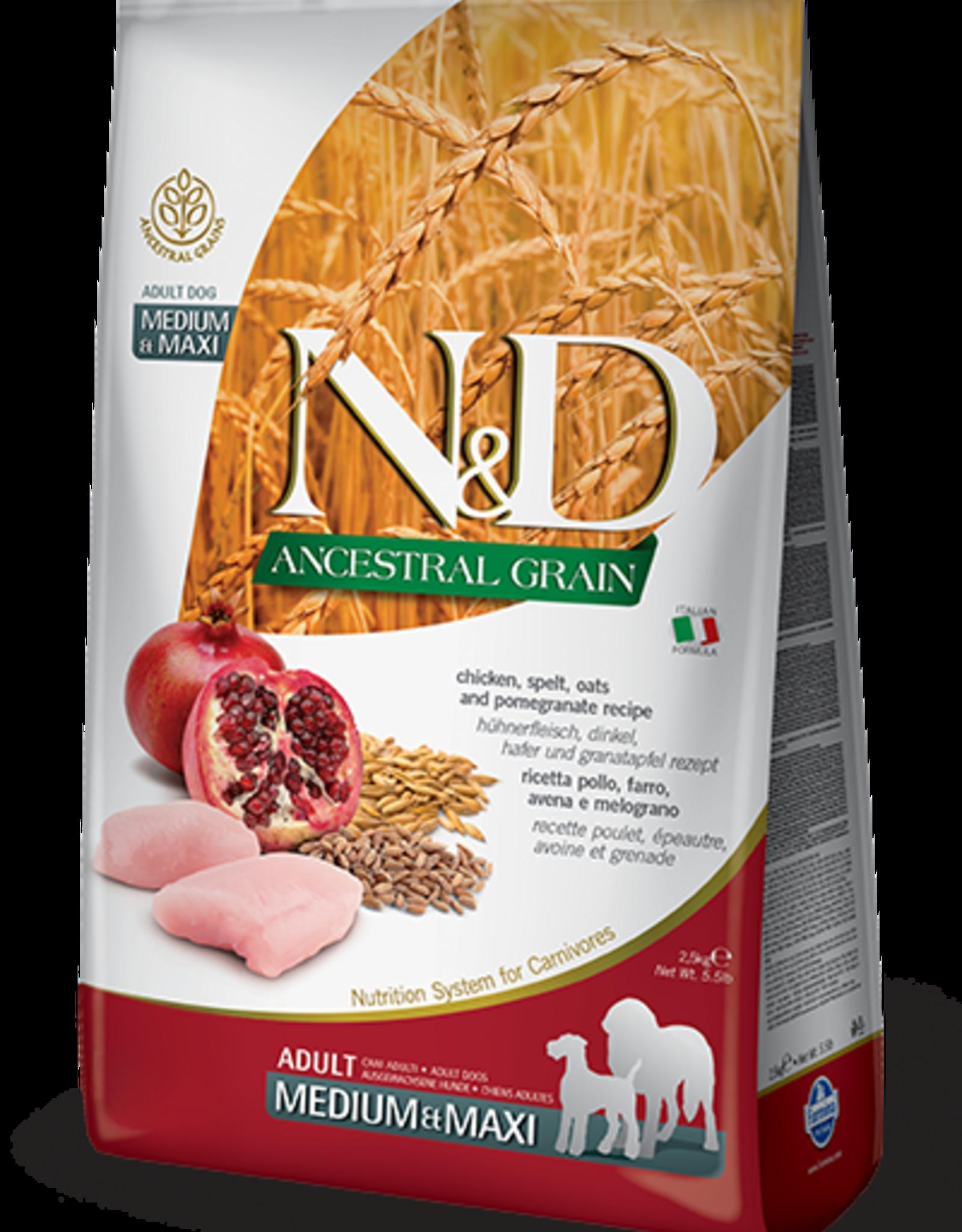 Farmina N&D Ancestral Grain Chicken & Pomegranate Dog Food
