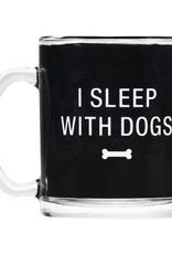 About Face Designs About Face Designs Glass Mug I Sleep With Dogs