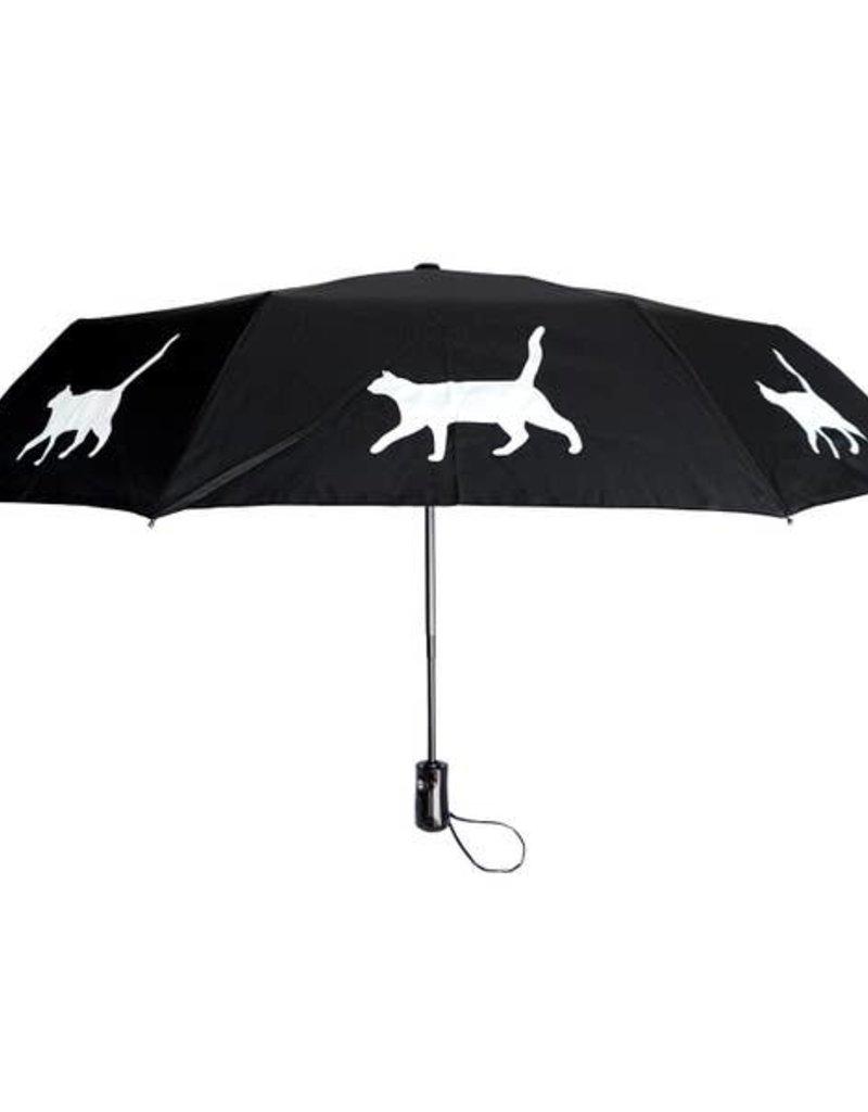 San Francisco Umbrella Company SFUC Collapsible Umbrella with Auto Open Cat