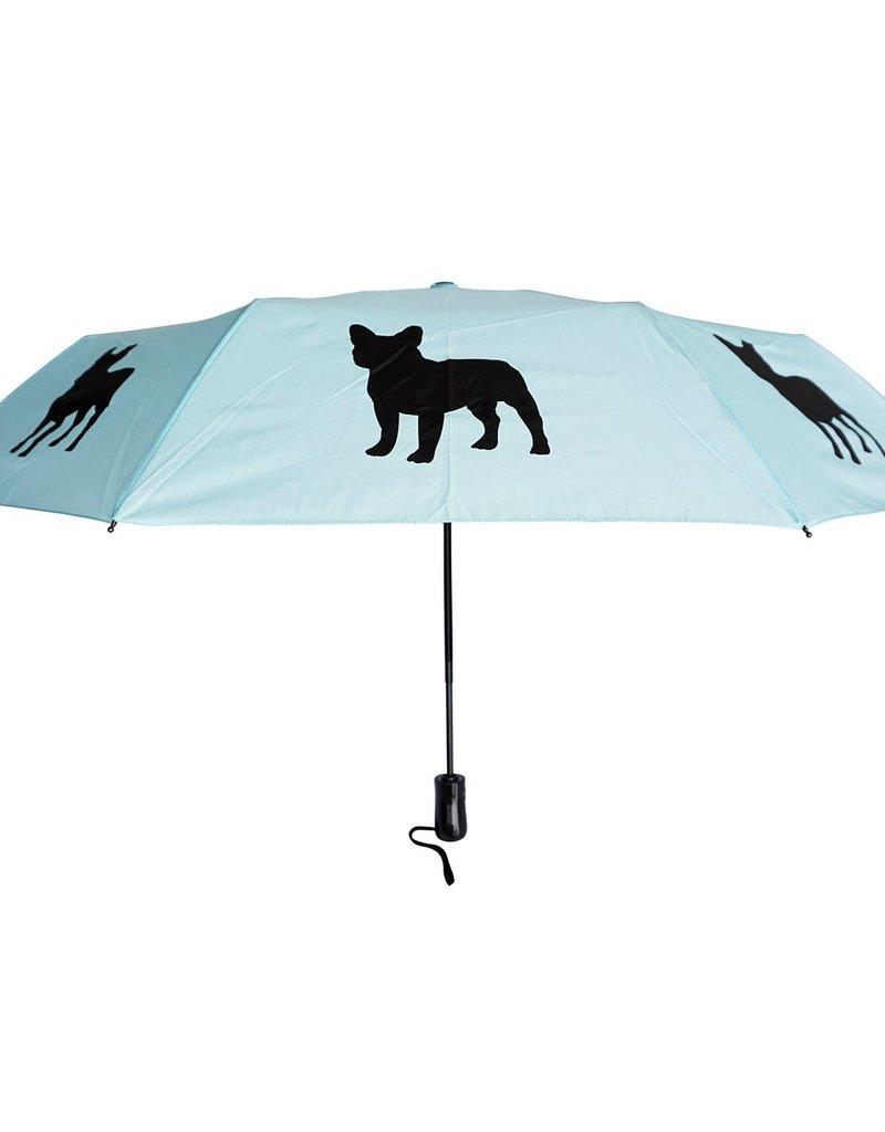 San Francisco Umbrella Company SFUC Collapsible Umbrella with Auto Open French Bulldog